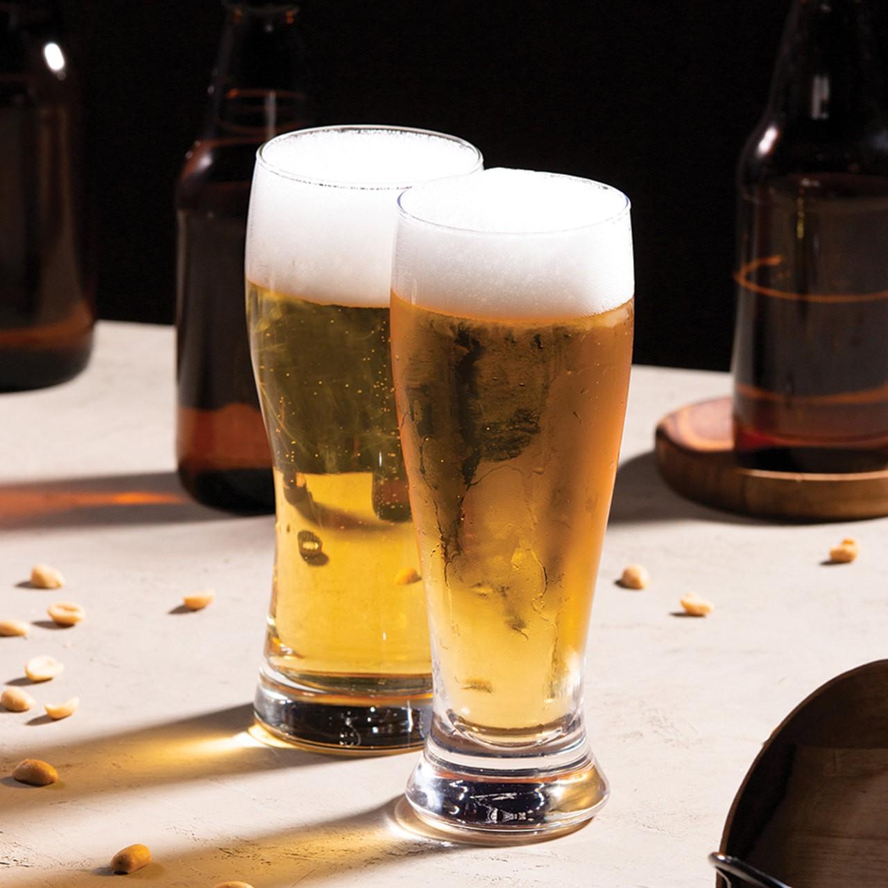 Jogo 2 copos 430ml para cerveja de vidro transparente tulipa Bon Gourmet - 27784