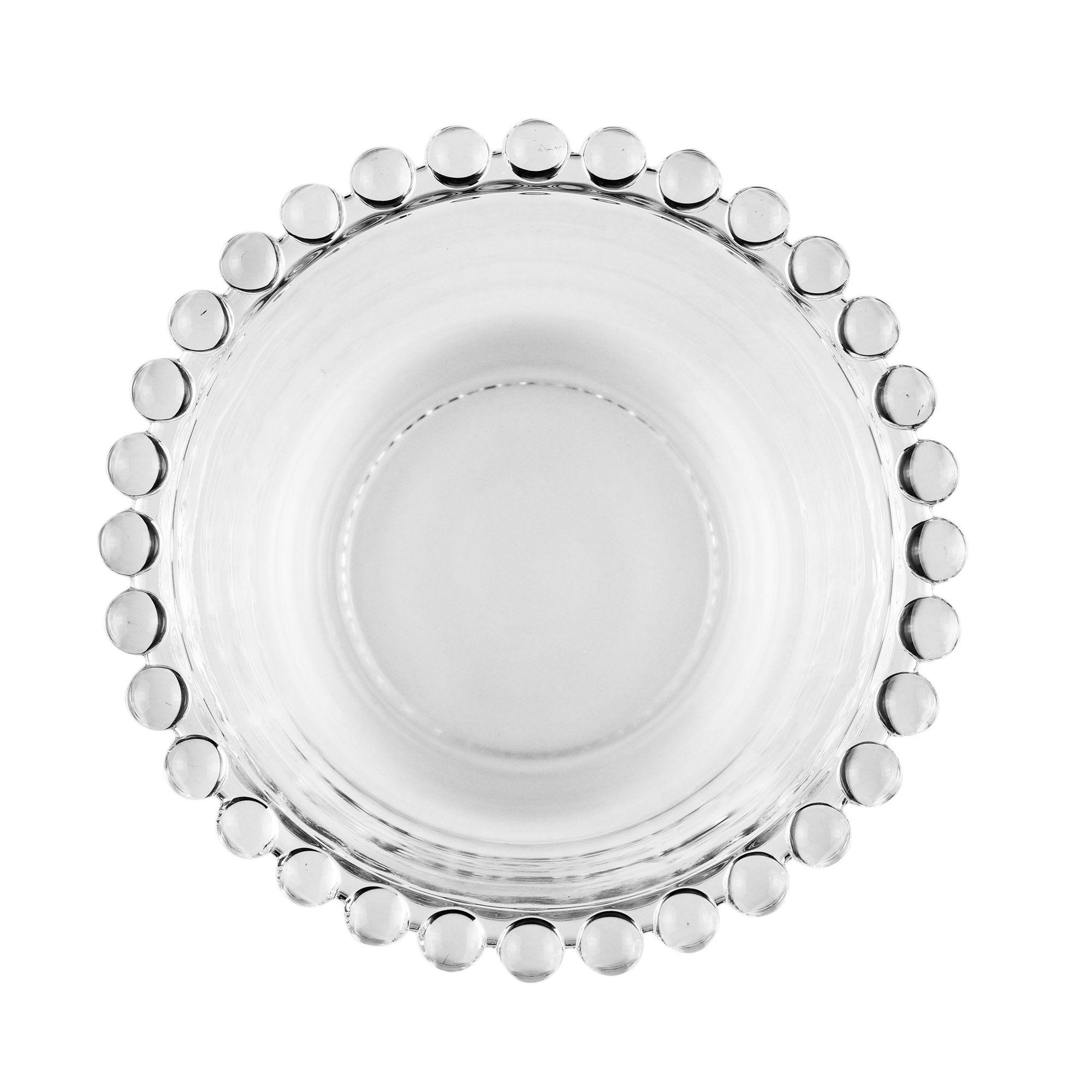 Jogo 4 bowls 12 cm para sobremesa de cristal transparente Pearl Wolff - 27894
