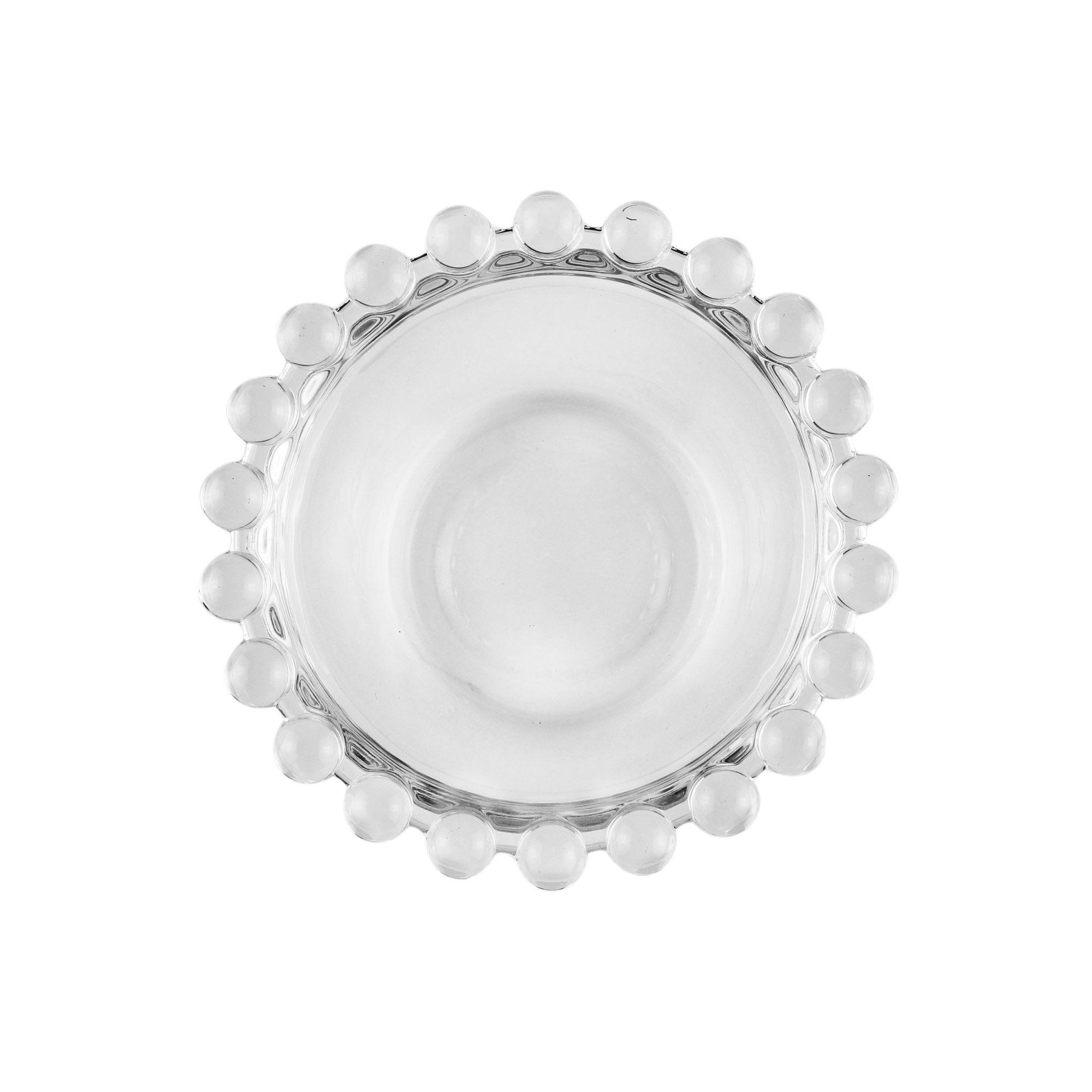 Jogo 4 bowls 9 cm para sobremesa de cristal transparente Pearl Wolff - 27896