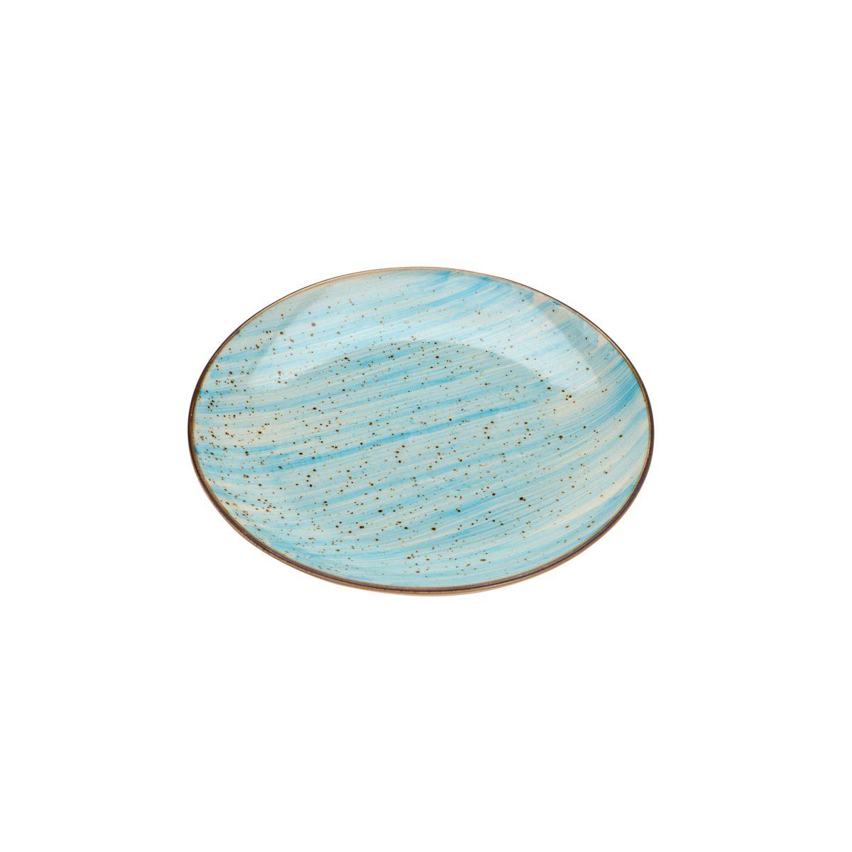 Jogo 4 pratos 19 cm para sobremesa de porcelana rosa e azul Watercolor Bon Gourmet - C26491