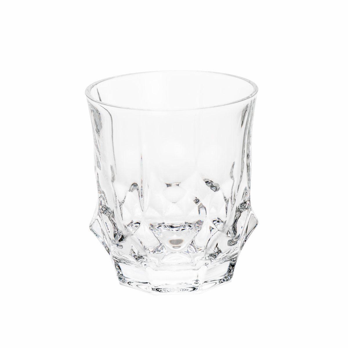 Jogo 6 copos 280ml para whisky de cristal transparente Soho Bohemia - 5436
