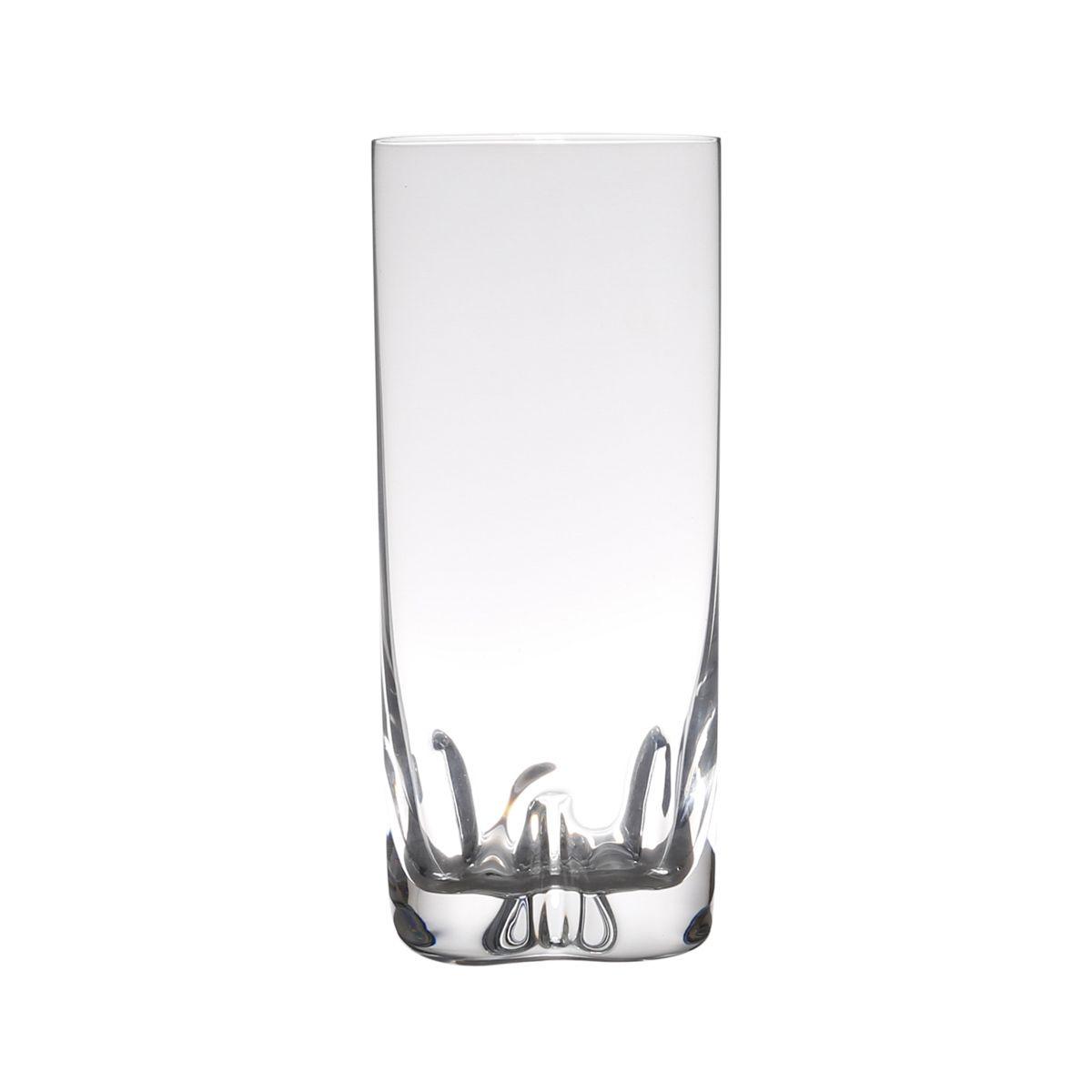 Jogo 6 copos 300ml para água de vidro com titânio transparente Trio Bohemia - L2025
