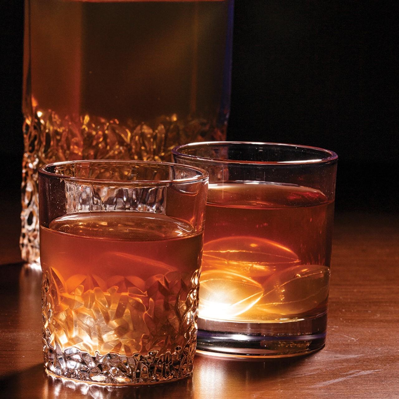 Jogo 6 copos 350ml para whisky de cristal de chumbo Wolff 27780