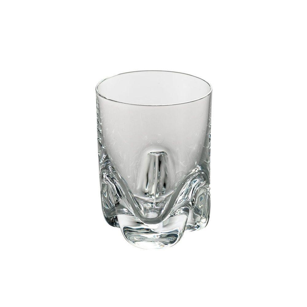 Jogo 6 copos 60ml para licor de vidro com titânio transparente Trio Bohemia - L2023