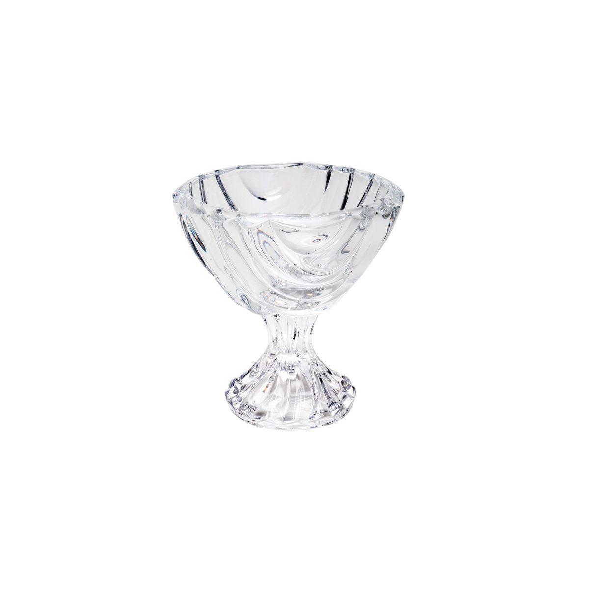 Jogo 6 taças 12 cm para sobremesa de cristal com base transparente Bamboo Wolff - 26299