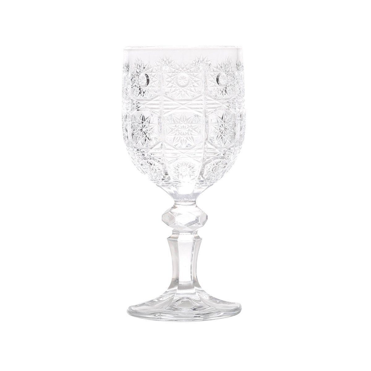 Jogo 6 taças 210ml para vinho de vidro transparente Starry Bon Gourmet - 25819