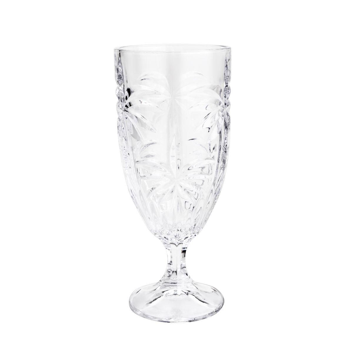 Jogo 6 taças 450ml para água de cristal transparente Palm Tree Wolff - 27440
