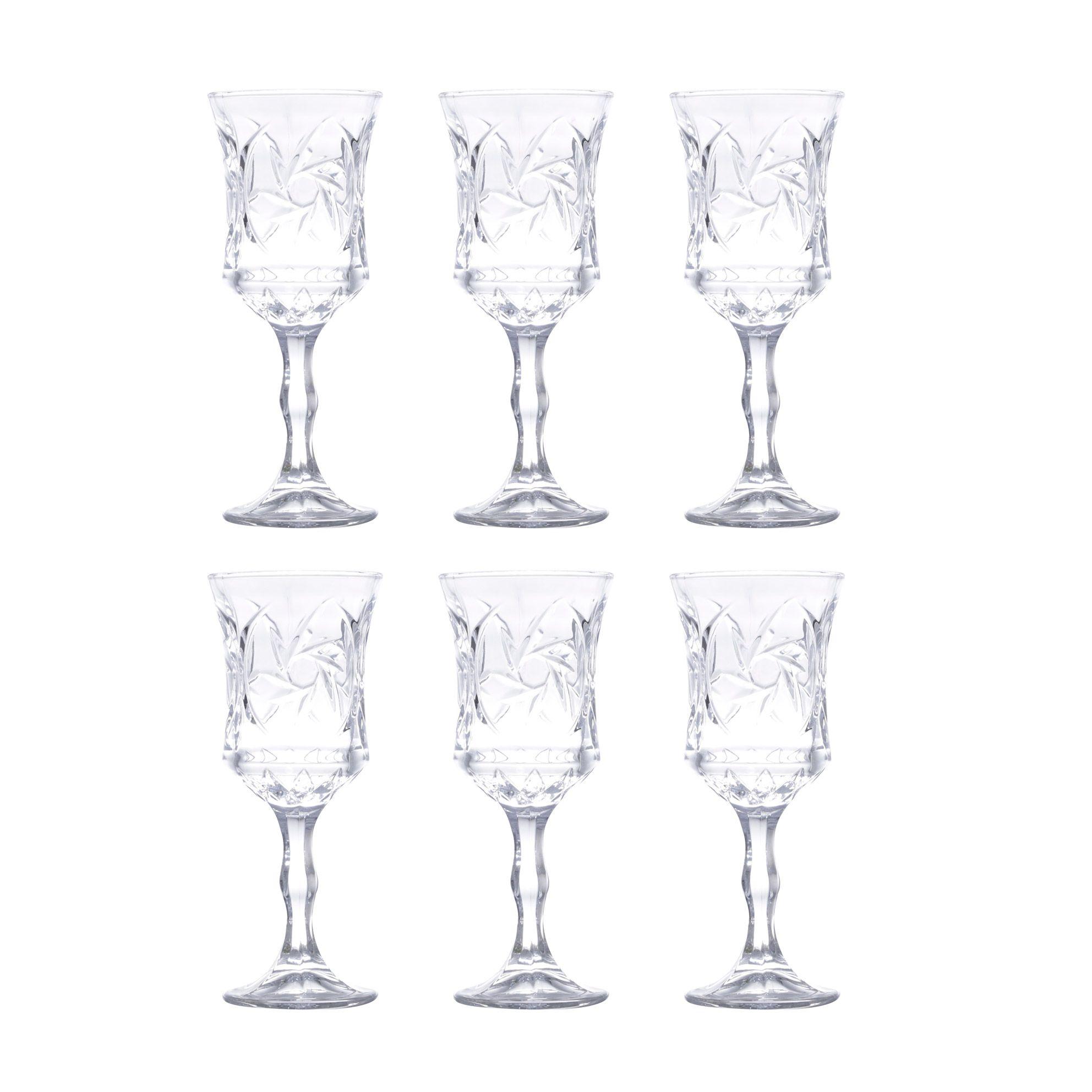 Jogo 6 taças 80ml para licor de cristal ecológico transparente Sunflower Wolff - 26066