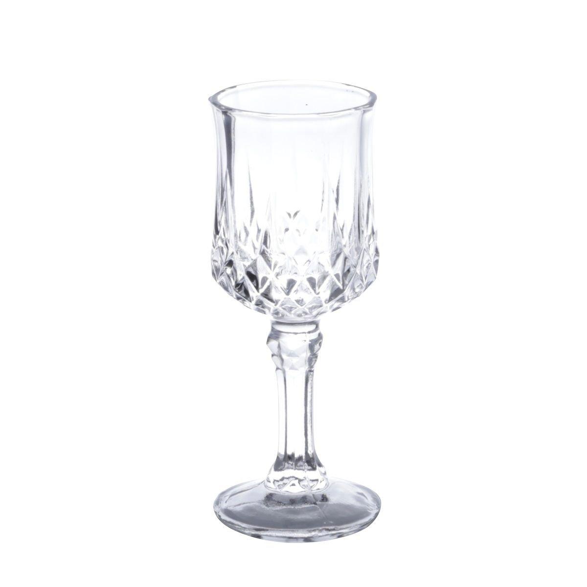 Jogo 6 taças 60ml para licor de vidro transparente Diamante Lyor - L6551