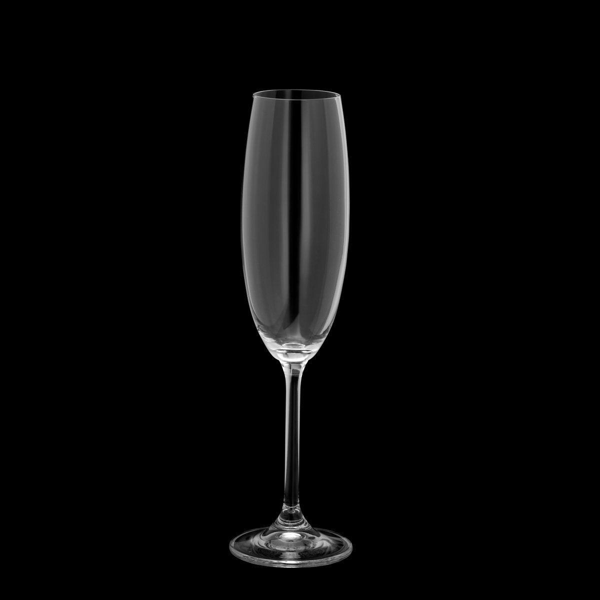 Jogo 6 taças 220ml para champagne de cristal ecológico transparente Gastro/Colibri Bohemia - 5327