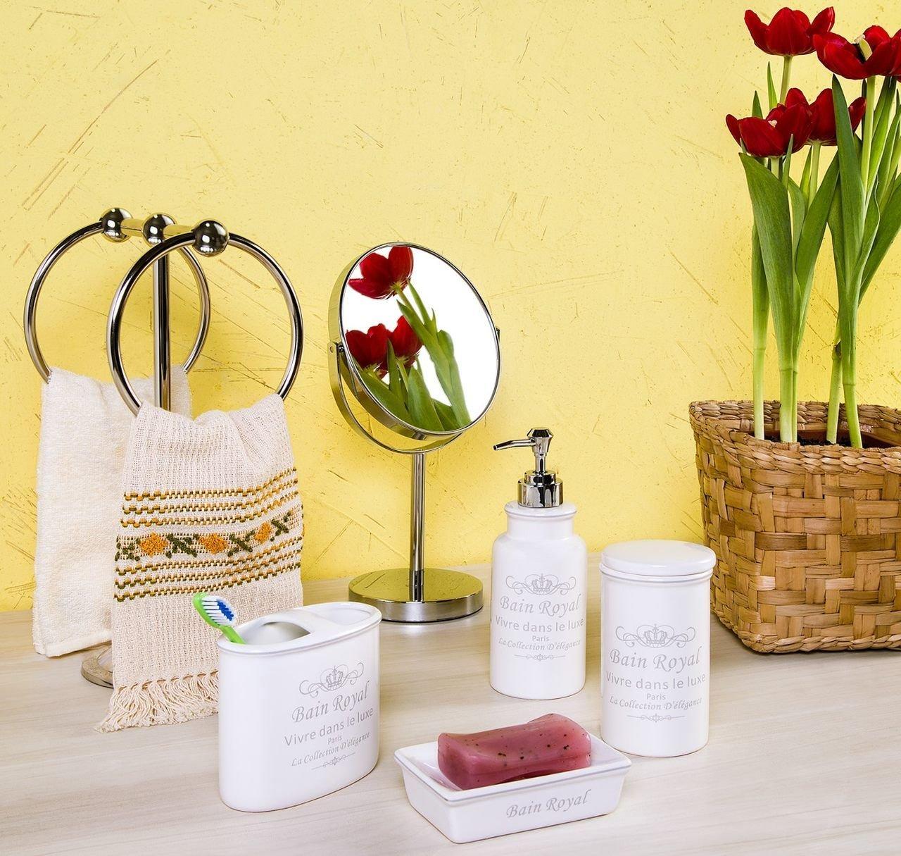 Jogo 4 peças para banheiro de cerâmica branco Royal Prestige - 25735
