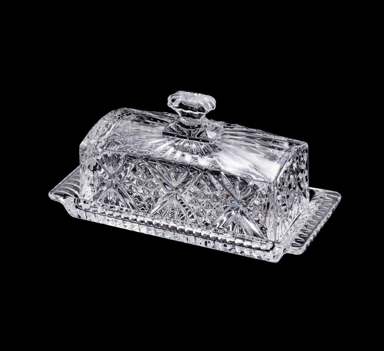 Manteigueira 20,5 cm de cristal transparente com tampa Dublin Wolff - 25568