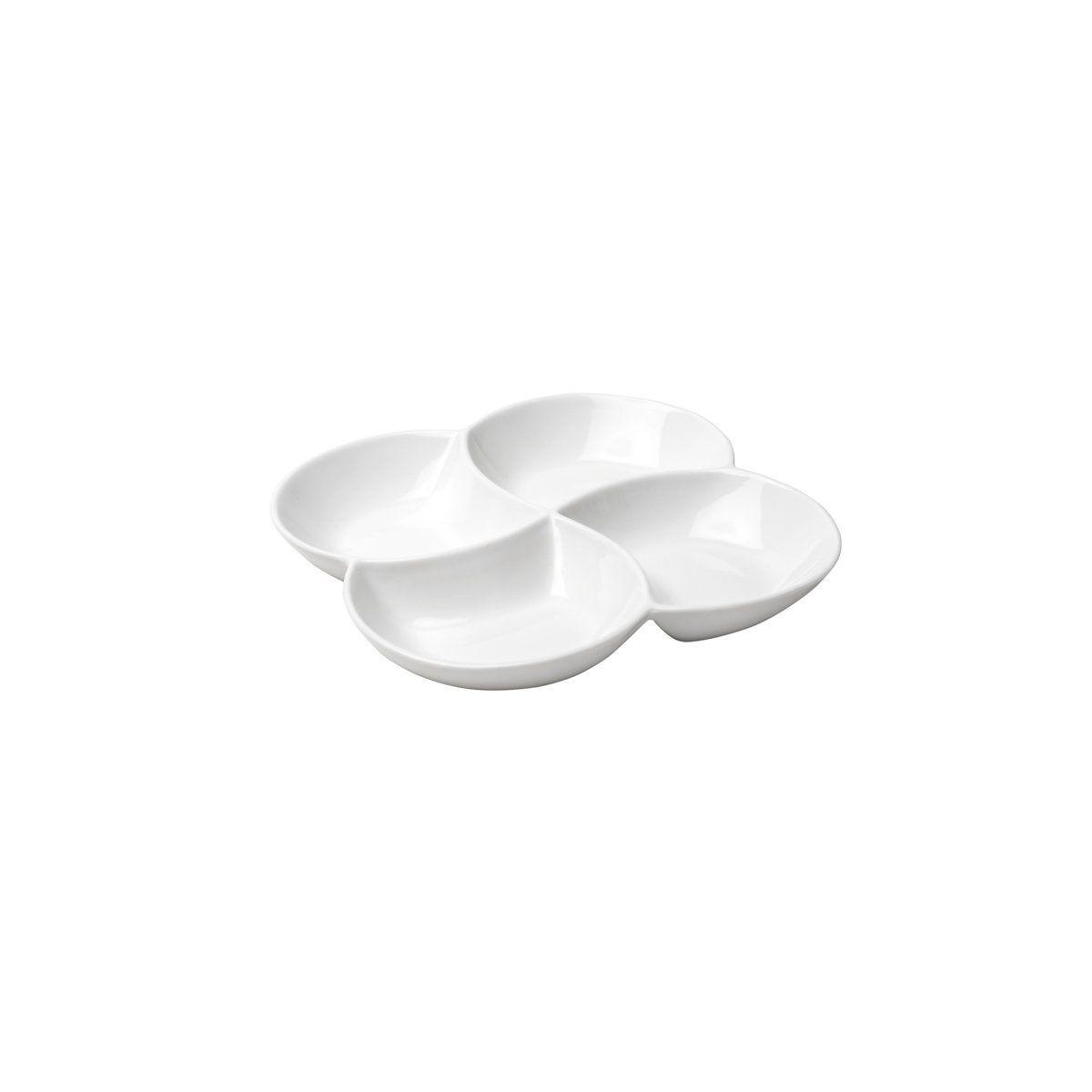 Petisqueira 20 cm de porcelana branca King Bon Gourmet - 26419