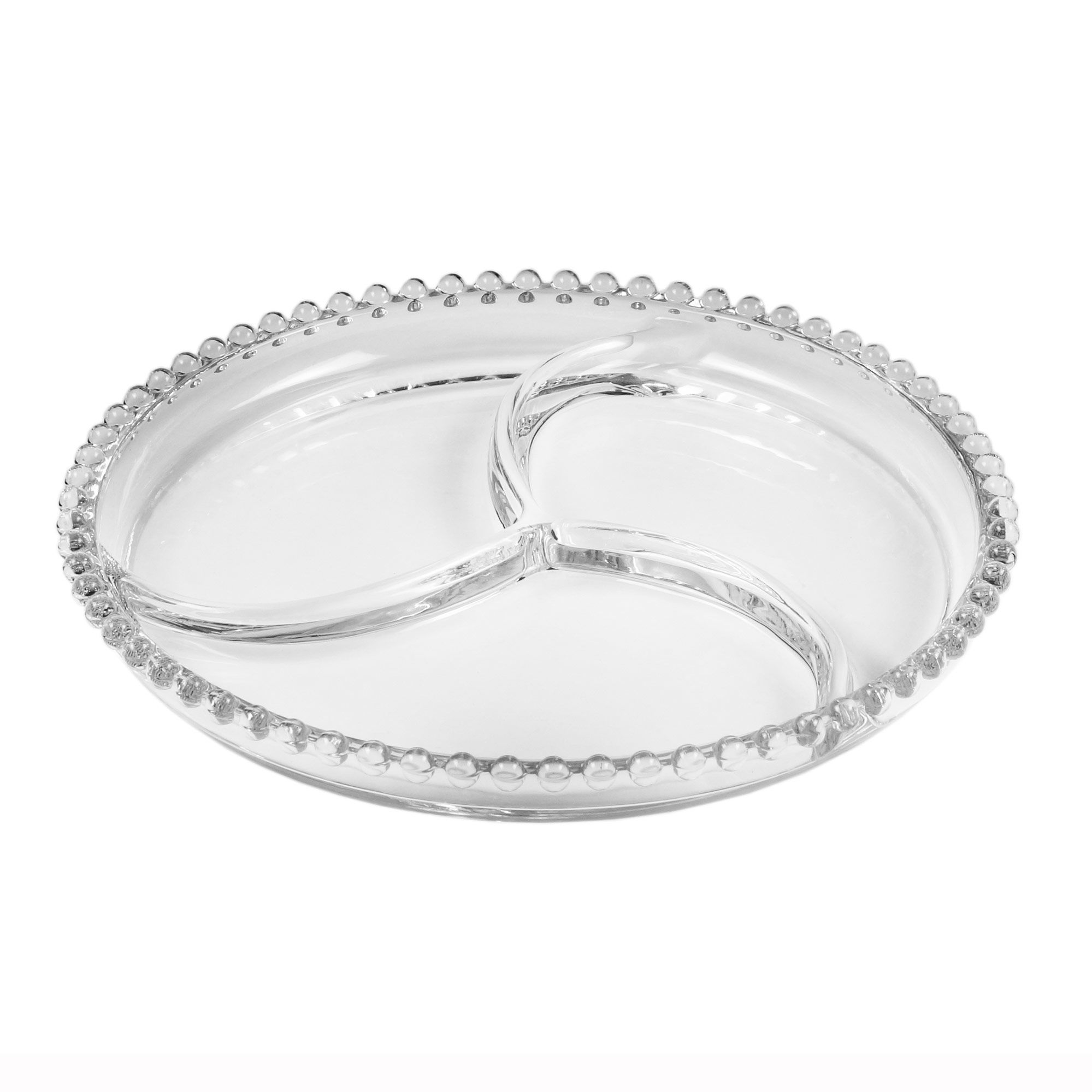 Petisqueira 24 cm de cristal transparente Pearl Wolff - 27890