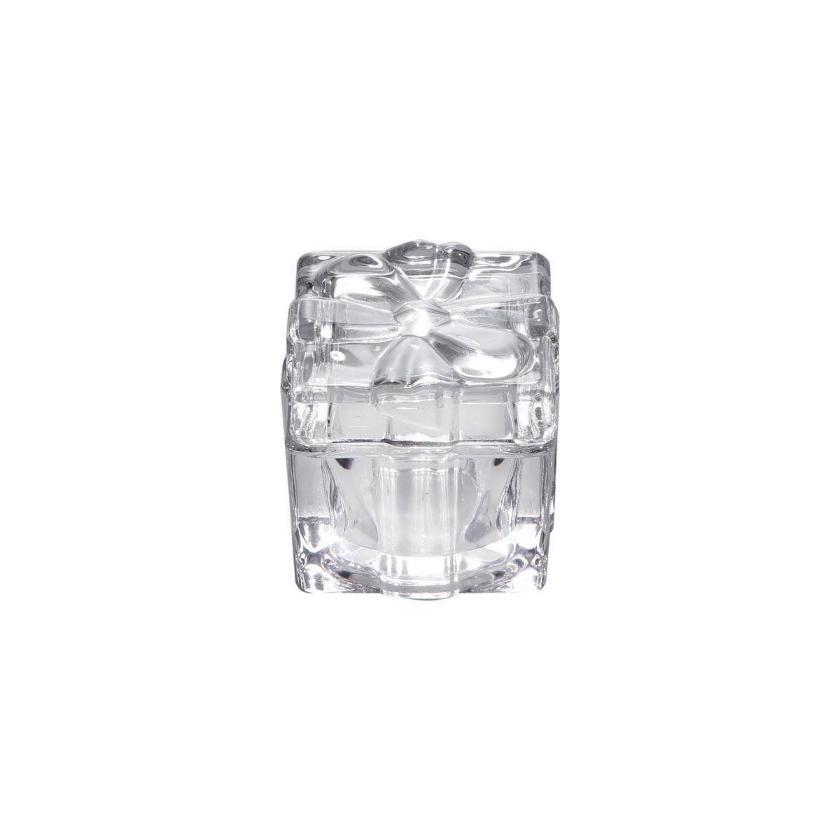 Porta-joias 5 cm de vidro transparente com tampa Aline Bon Gourmet - 2075