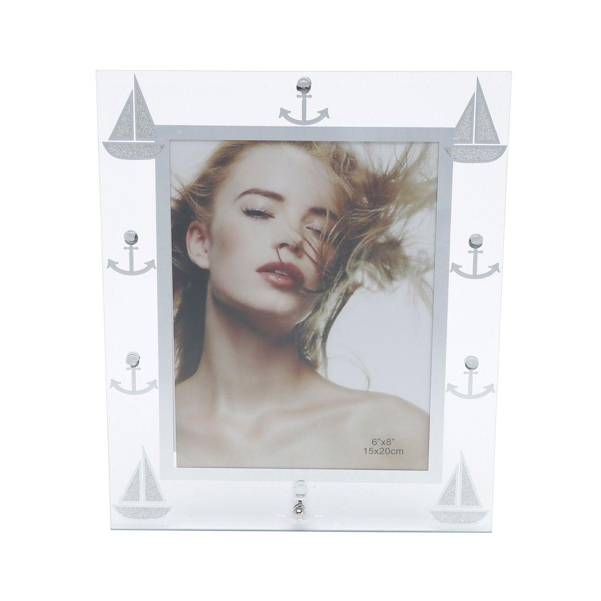 Porta-retrato 10 x 15 cm de vidro transparente Ocean Prestige - 25235