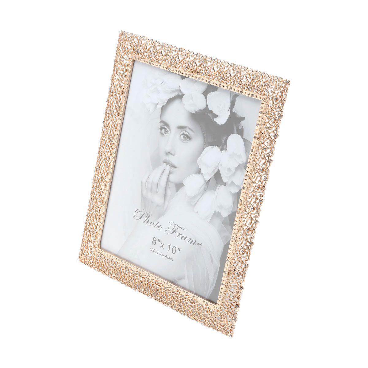 Porta-retrato 13 x 18 cm de latão dourado Branch Prestige - 25348
