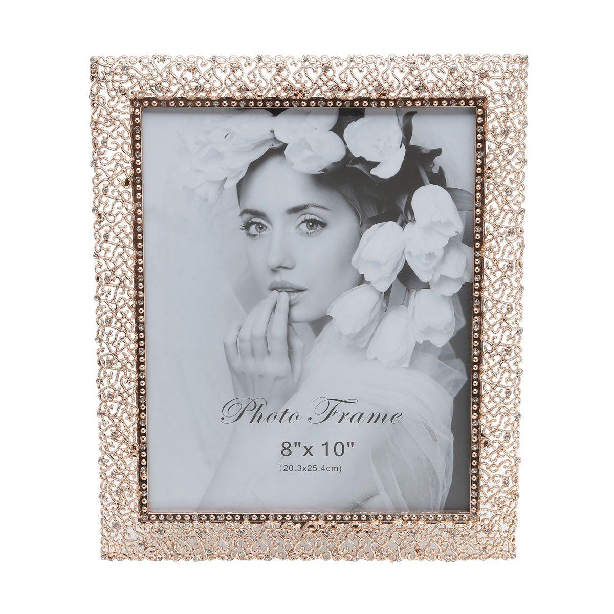Porta-retrato 20 x 25 cm de latão dourado Branch Prestige - 25350