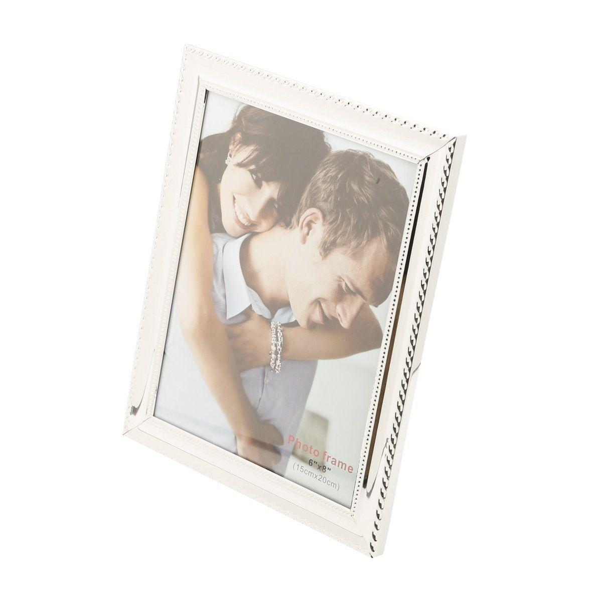 Porta-retrato 13 x 18 cm de aço prateado Knot Prestige - 25503