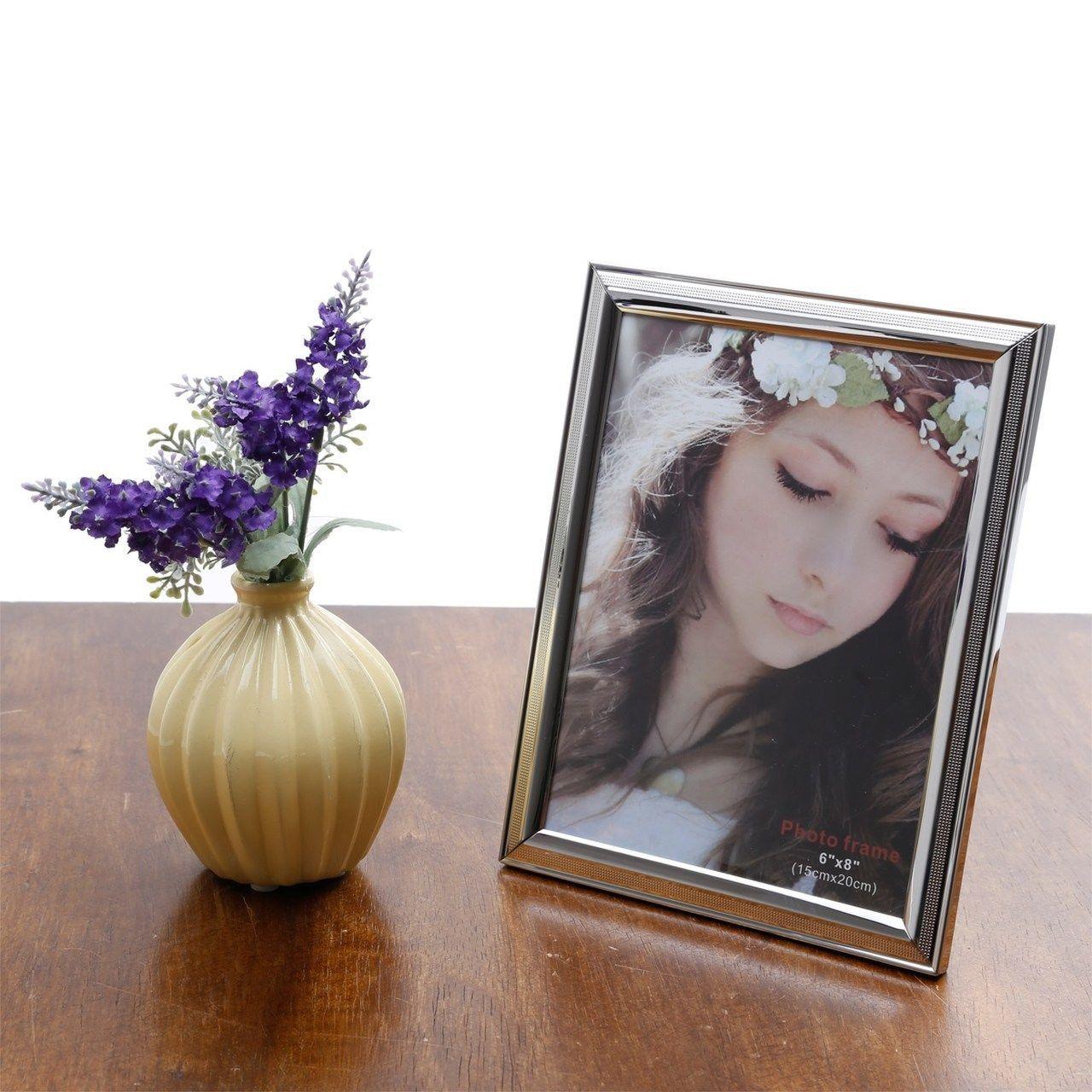 Porta-retrato 15 x 20 cm de plástico prateado Family Prestige - 25508
