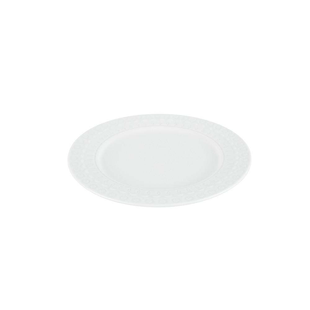 Prato 19 cm para sobremesa de porcelana branca Grace Wolff - 17576