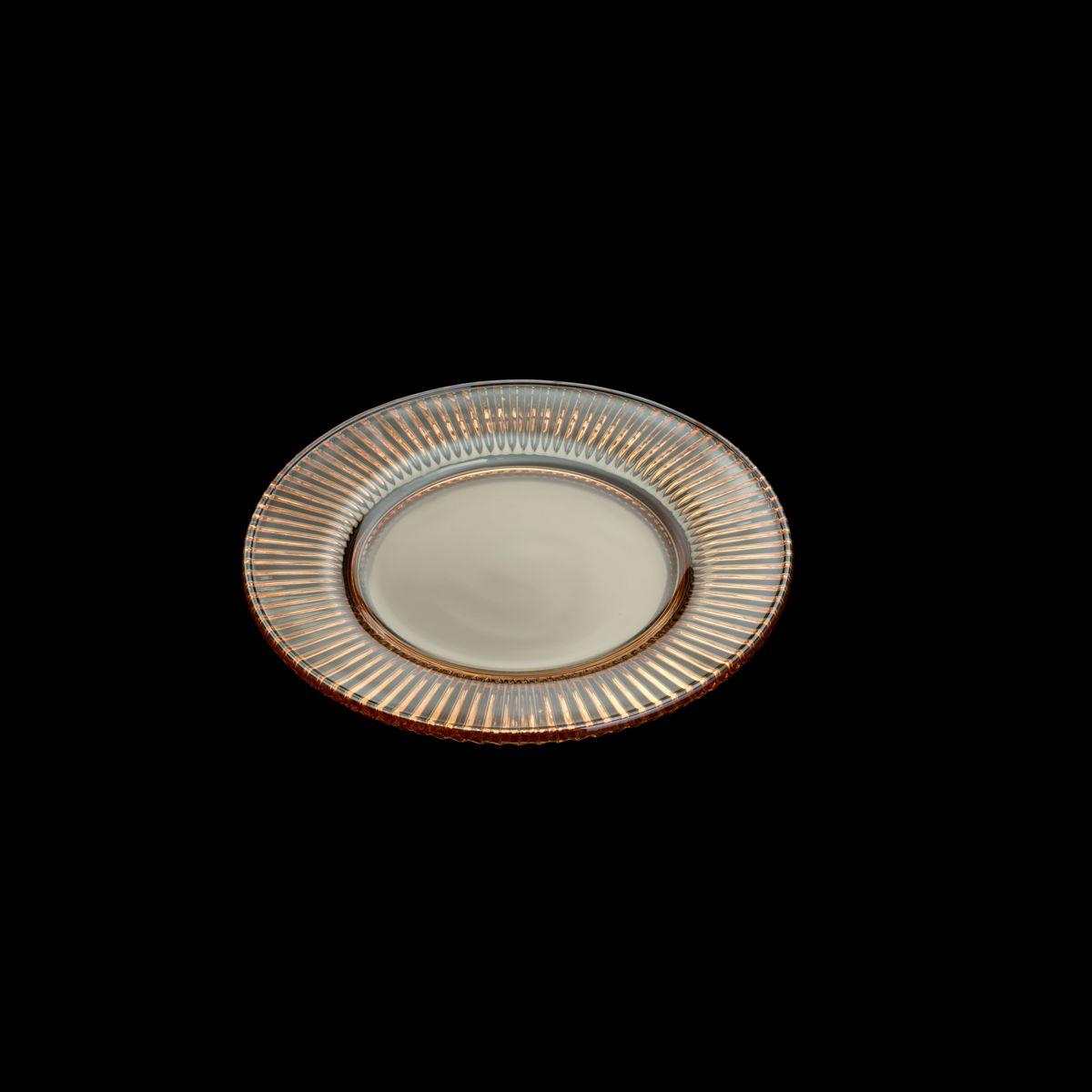 Prato 22,5 cm de cristal âmbar Renaissance Lyor - L7495