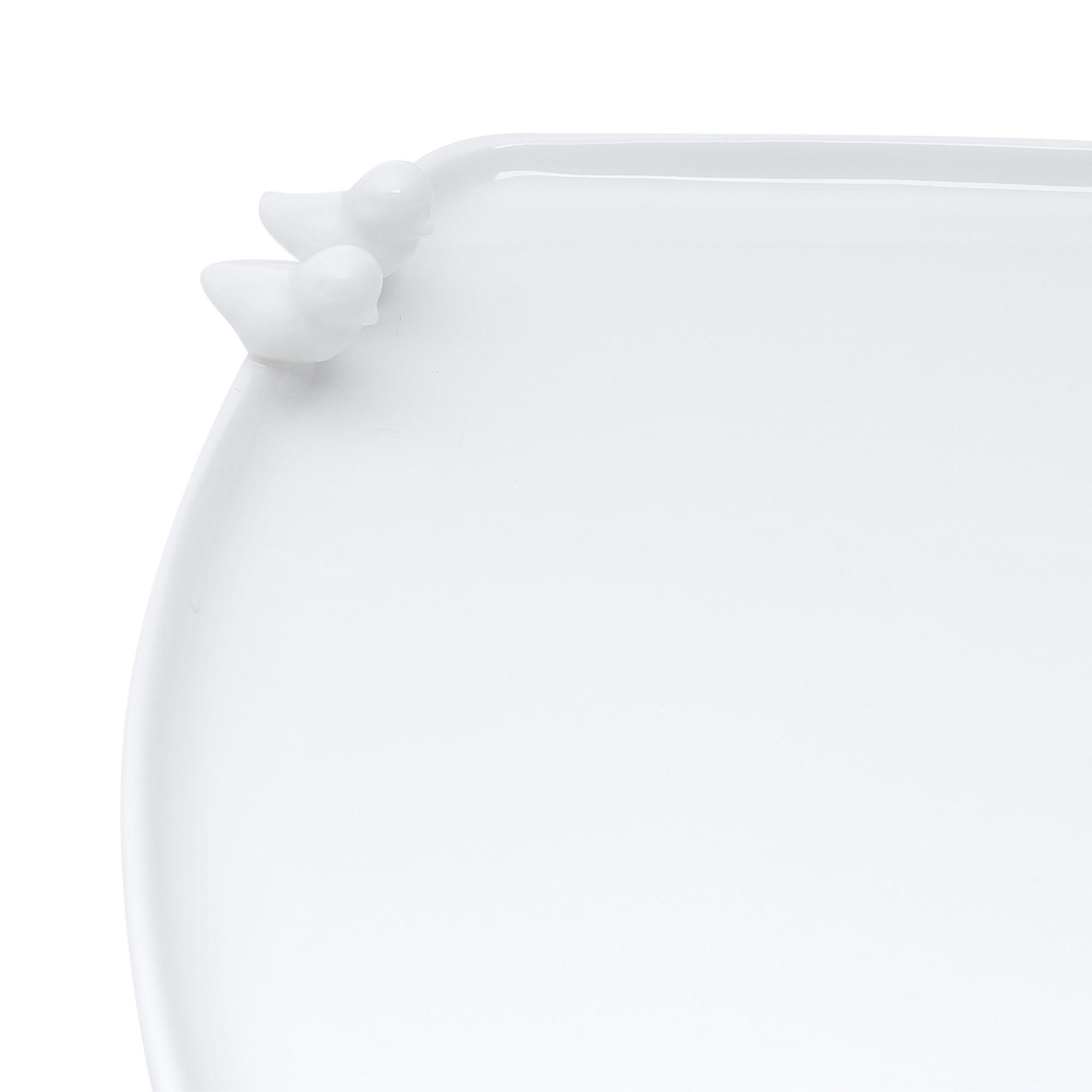 Prato 22,5 x 18 cm para pão de porcelana branca Birds Wolff - 17235