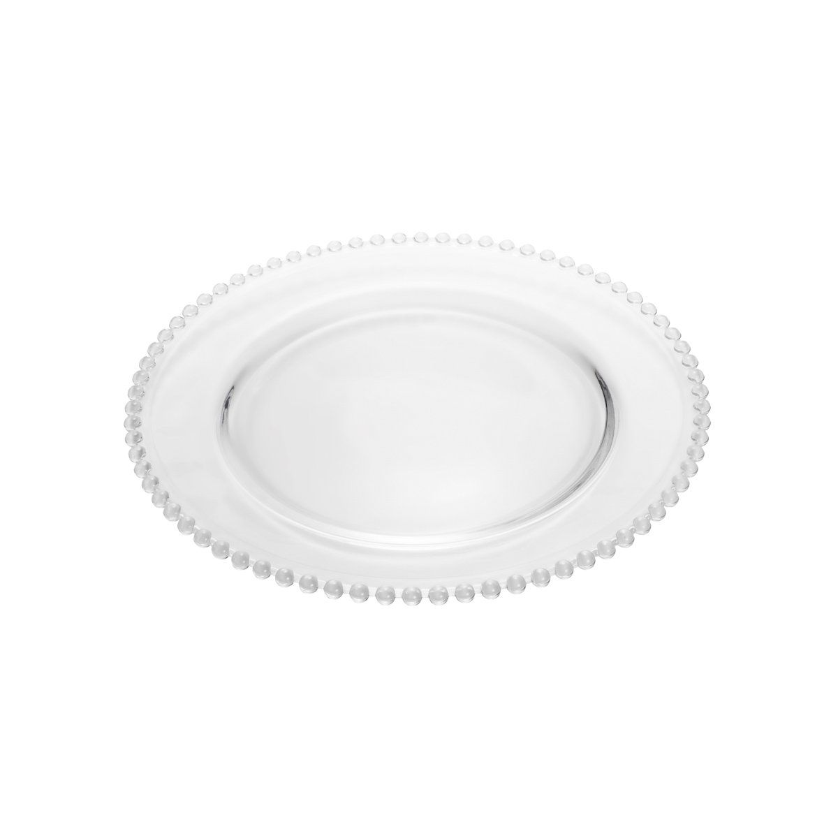 Prato 27 cm de cristal transparente Pearl Wolff - 2671