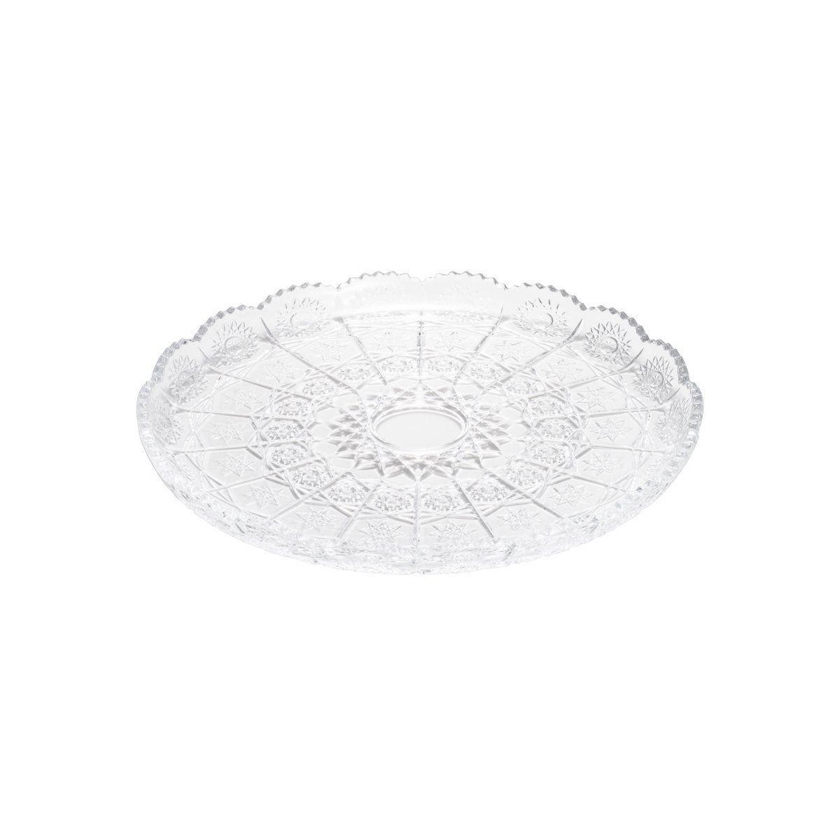 Prato 30 cm para bolo de cristal transparente Starry Wolff - 25550