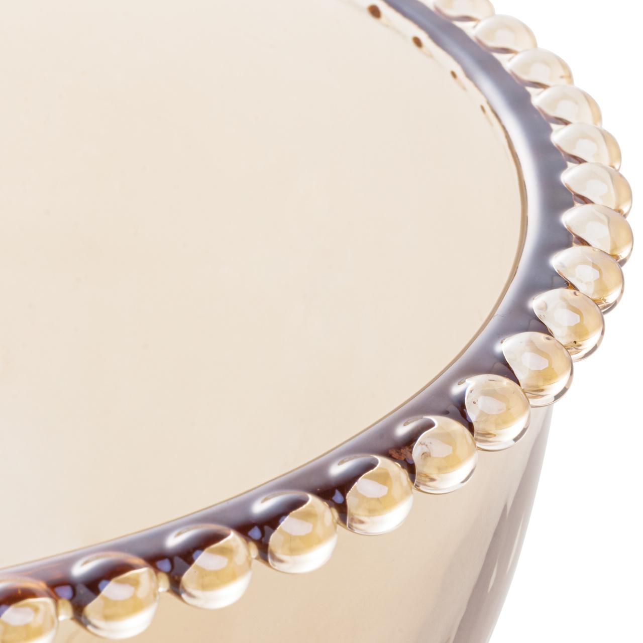 Saladeira 21 cm de cristal âmbar Pearl Wolff - 28223