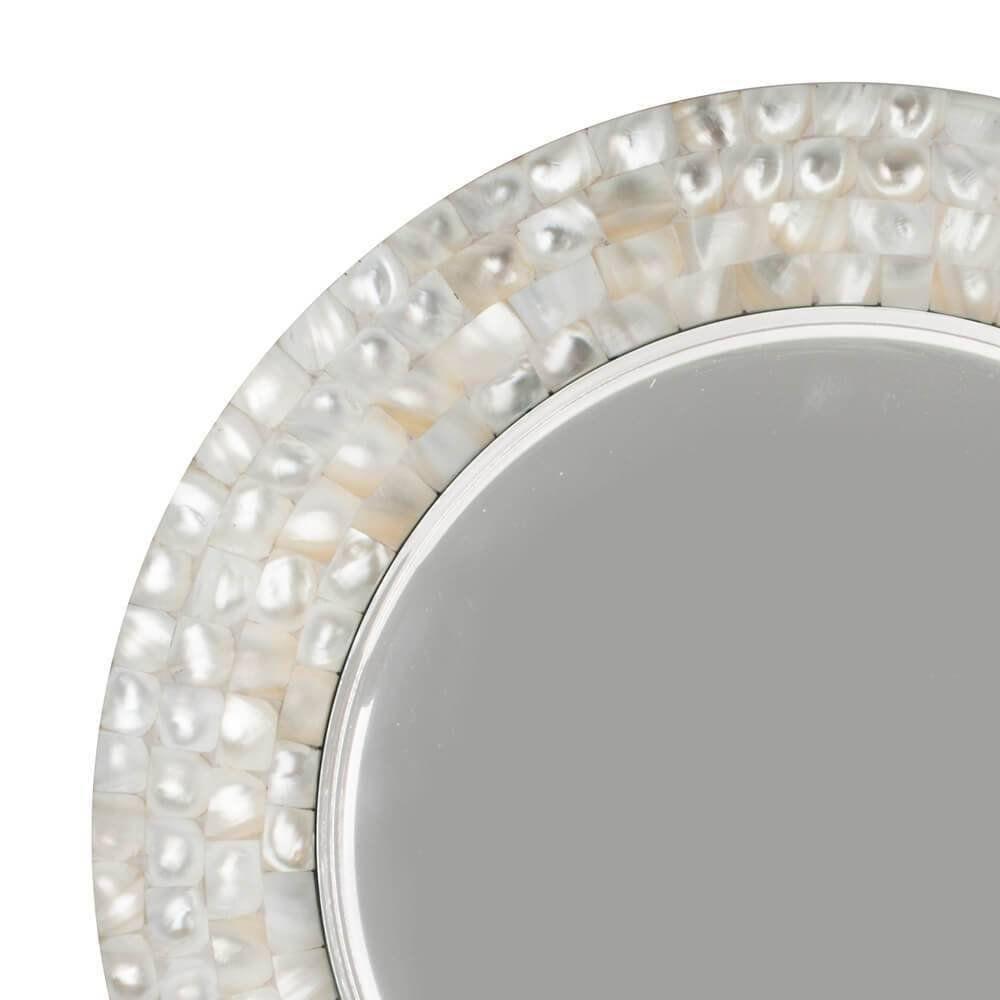 Sousplat 35 cm de aço inox com madrepérola L' Hermitage - 26524