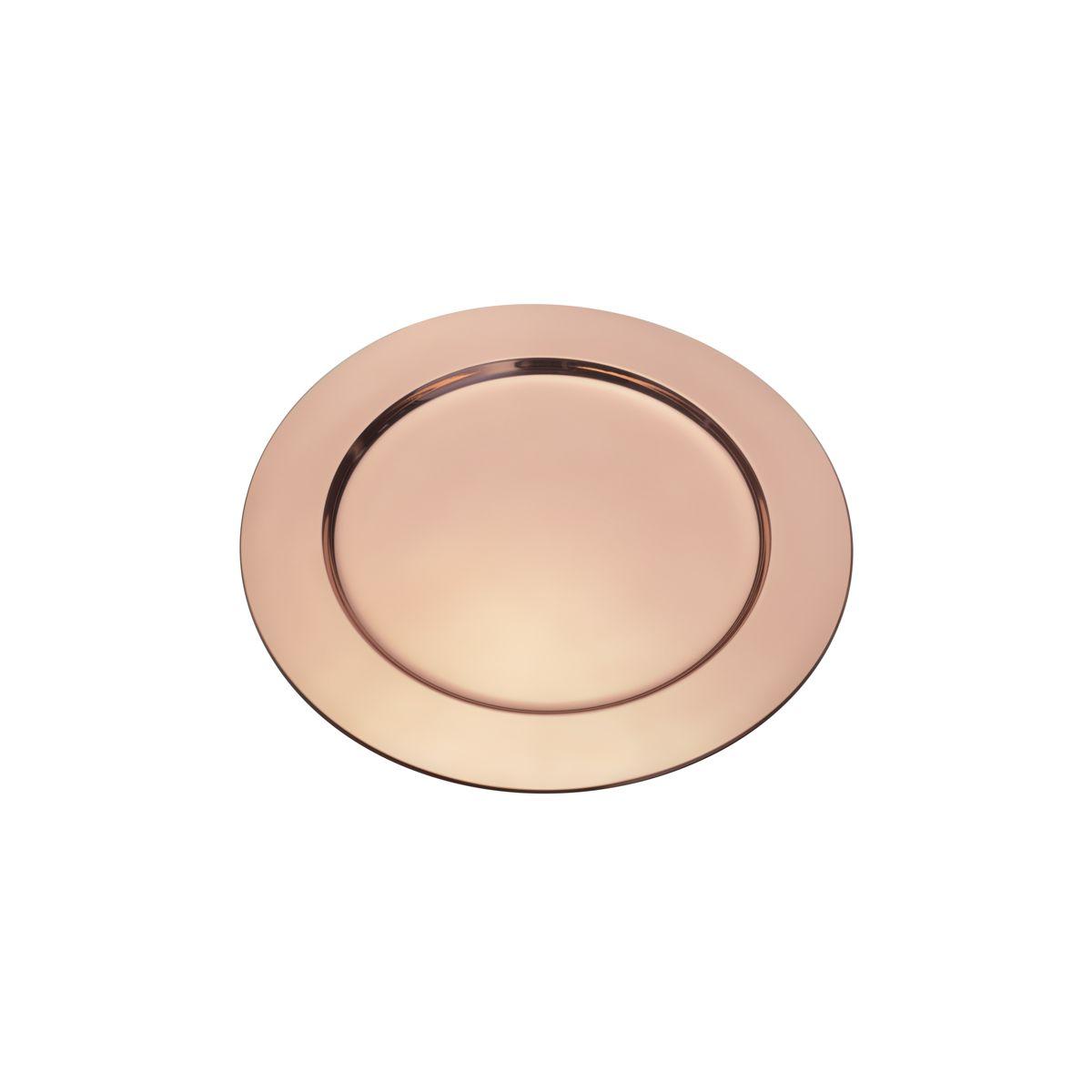 Sousplat 33 cm de aço inox cobre rosé gold Delhi Wolff - 27328