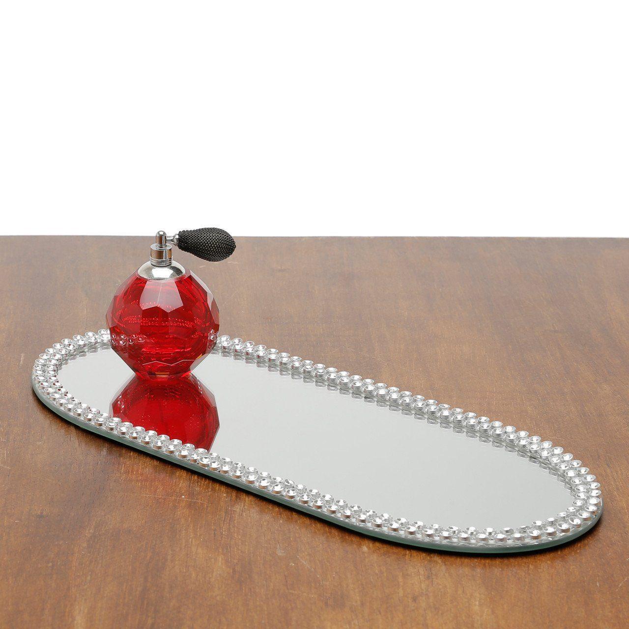 Base, Suporte 40 cm com espelho e acrílico oval Hills Prestige - 2876
