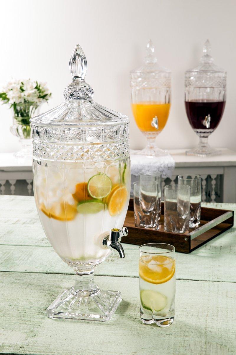 Suqueira, dispensador 4 litros para bebida de cristal Brandon Wolff - 2684