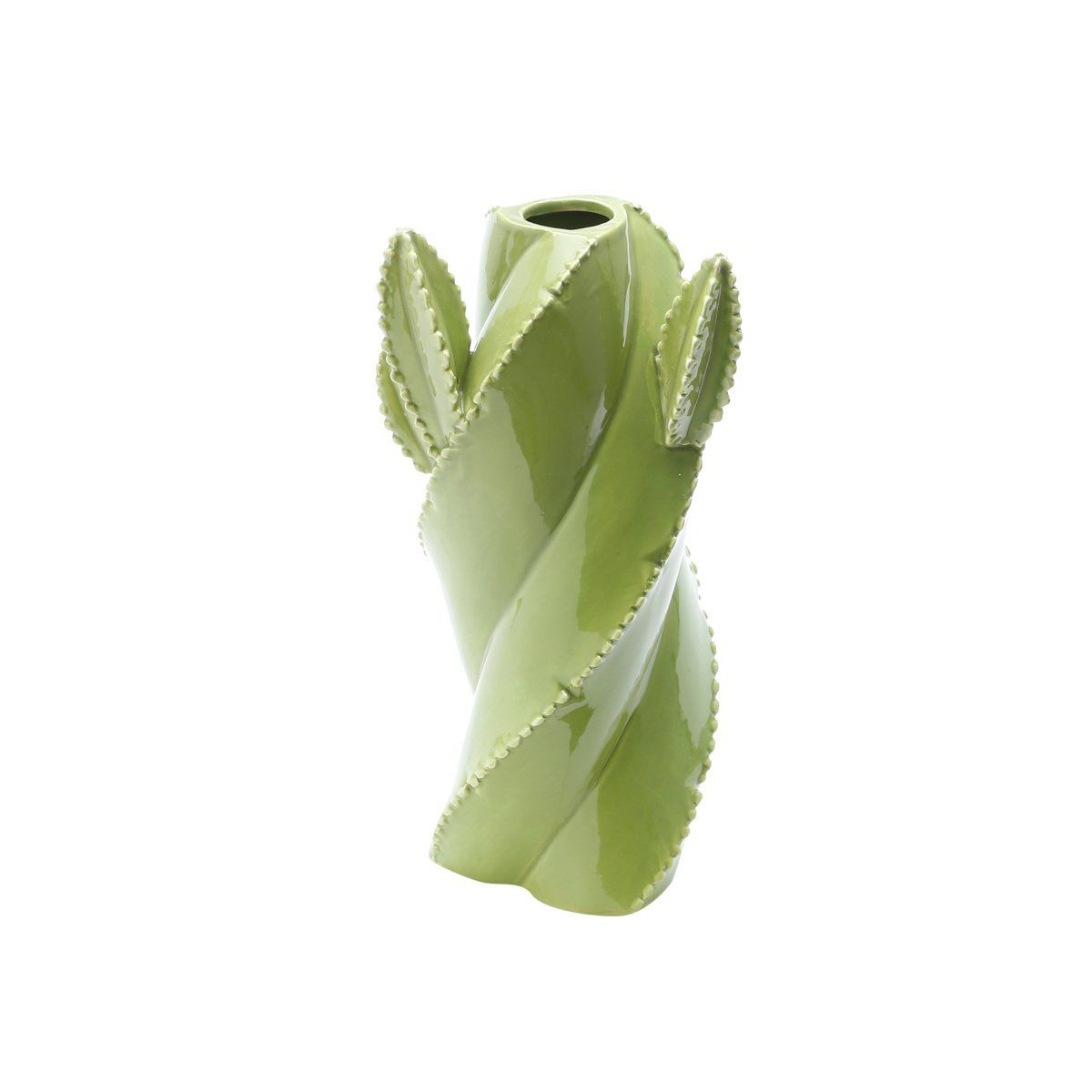 Vaso decorativo 20 cm de cerâmica verde Cactos Prestige - 25661
