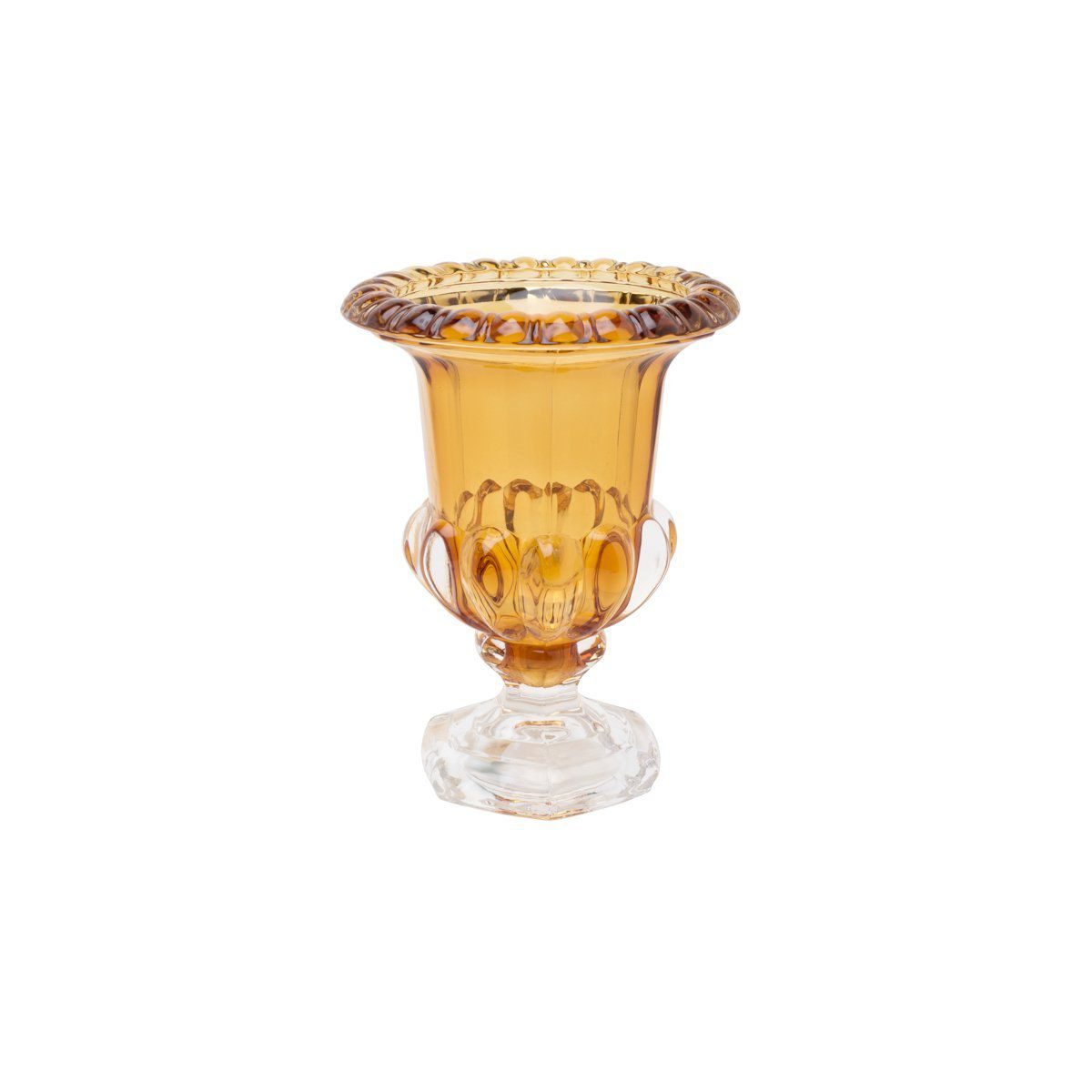 Vaso decorativo 15 cm de cristal com pé Sussex Ambar Wolff - 26460