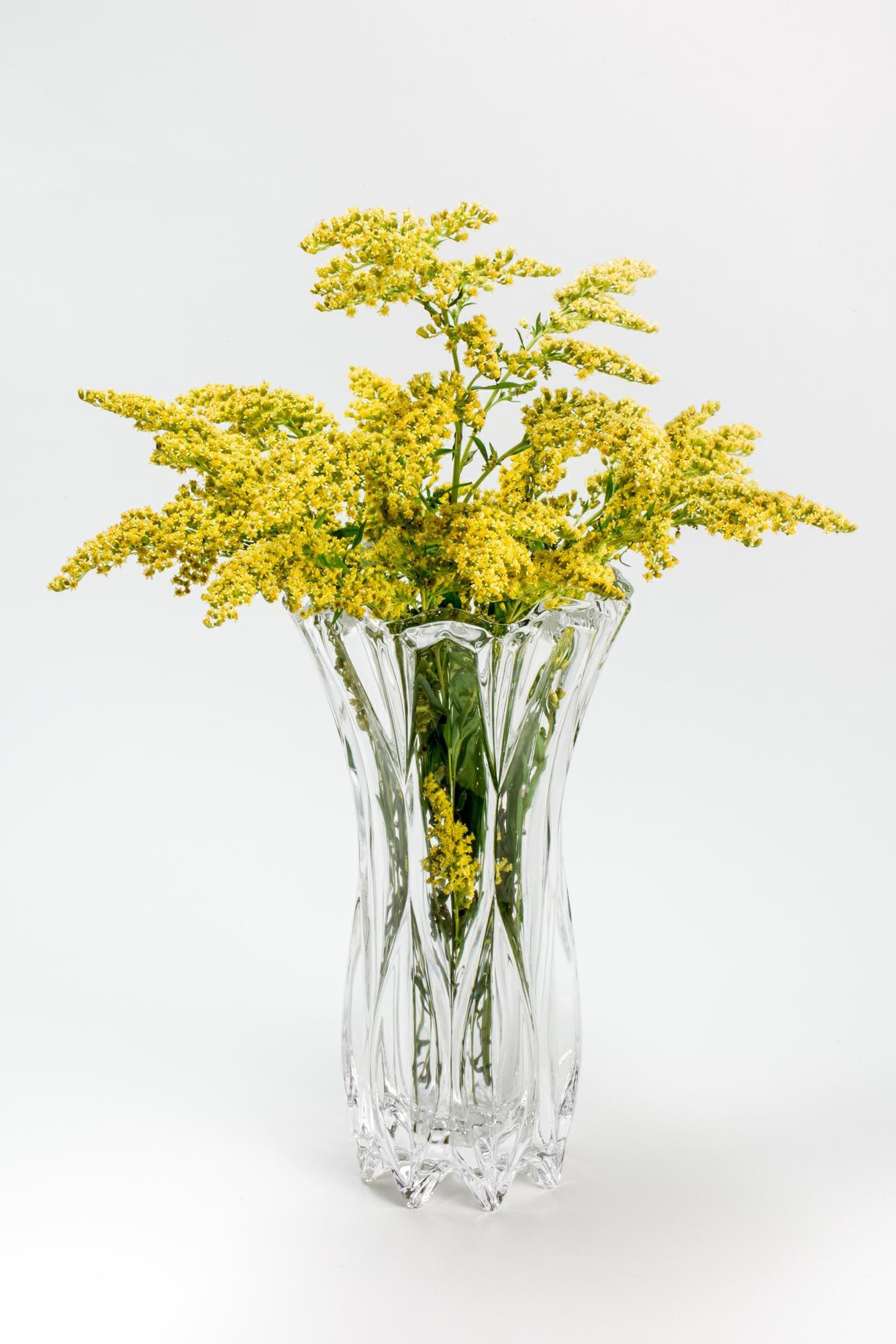 Vaso decorativo 20 cm de cristal transparente Louise Wolff - 2927