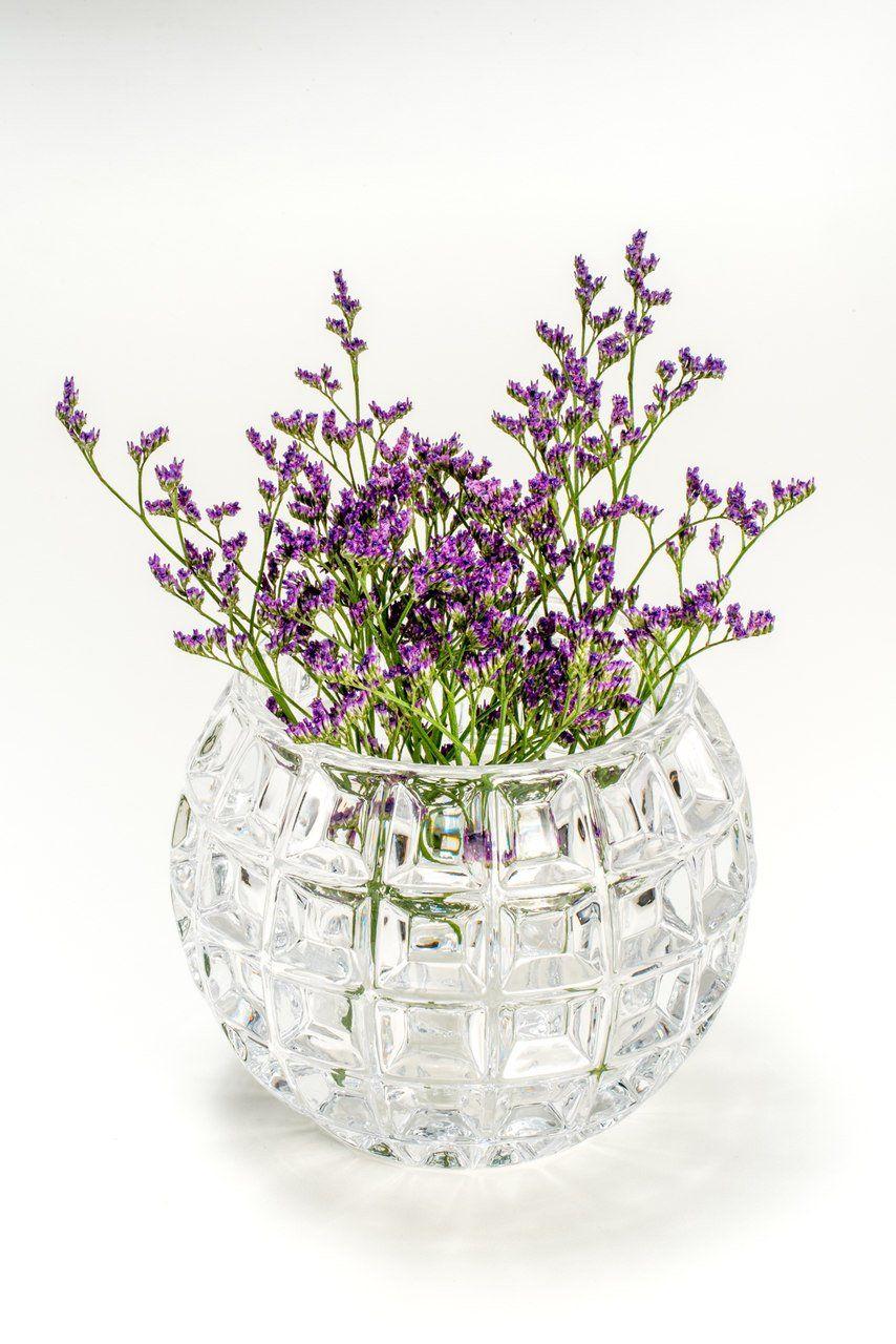 Vaso decorativo 10 cm de cristal transparente Bubble Wolff - 25426