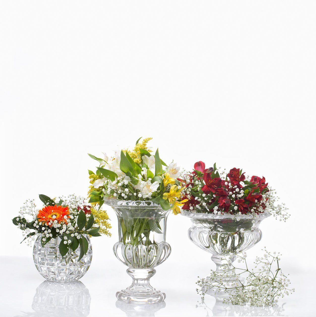 Vaso decorativo 18 cm de cristal transparente Bubble Wolff - 25443
