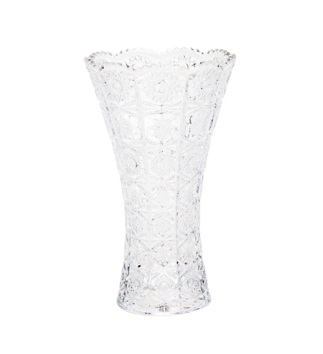 Vaso decorativo solitário 25 cm de cristal transparente Starry Wolff - 25543
