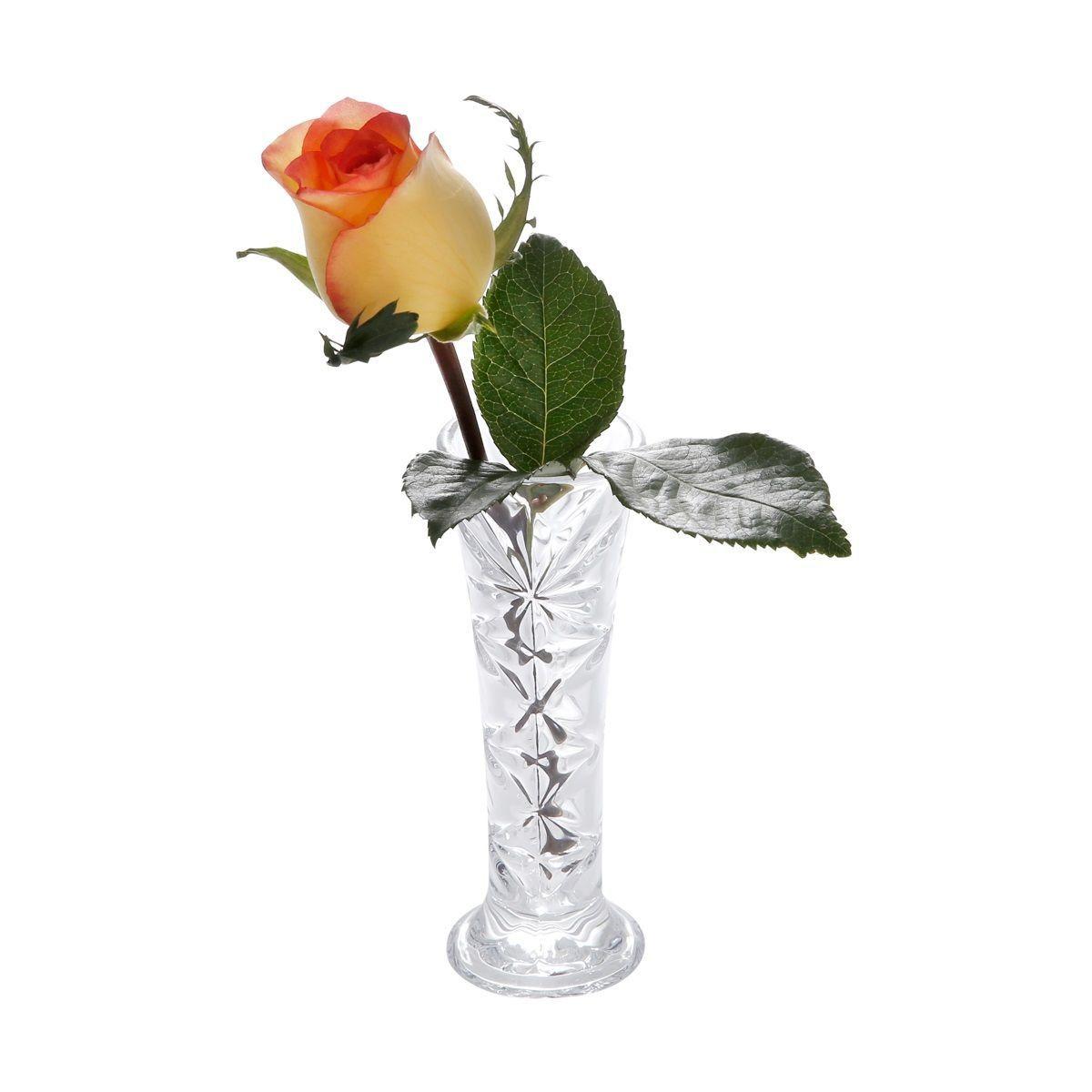 Vaso decorativo solitário 15 cm de vidro transparente Nancy Bon Gourmet - 2350