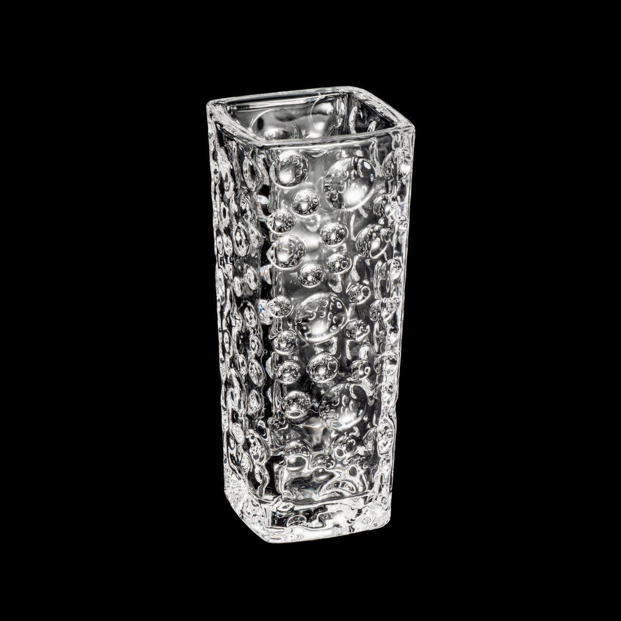 Vaso decorativo solitário 15,6 cm de cristal transparente Bubble Bud Wolff - 2931