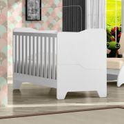 Berço Mini Cama Luna Branco Acetinado - Canaã Baby