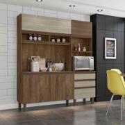 Cozinha  Compacta Azaleia Carvalho Berlim/Off White - Mobler