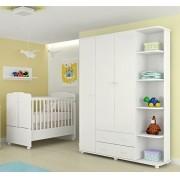 Guarda Roupa Infantil 3 Portas Lorena + Berço Mini Cama 230 - Phoenix Baby