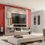 Home Suspenso Para Tv Com Led Espelho E Nichos Tb109E Dalla Costa