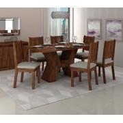Jogo De Mesa Montana Com 6 Cadeiras Romana - Dj Móveis