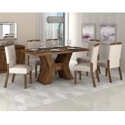 Jogo De Mesa Montana Com 6 Cadeiras Nevada - Dj Móveis