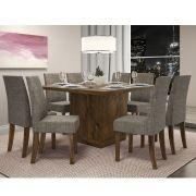 Mesa De Jantar Vince + 8 Cadeiras Olímpia - Dj Móveis