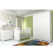 Quarto de Bebê com Berço Danny + Guarda Roupa 4 Portas + Cômoda  Alice - Phoenix Baby